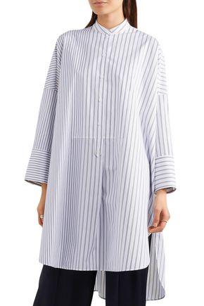 JIL SANDER Striped cotton tunic