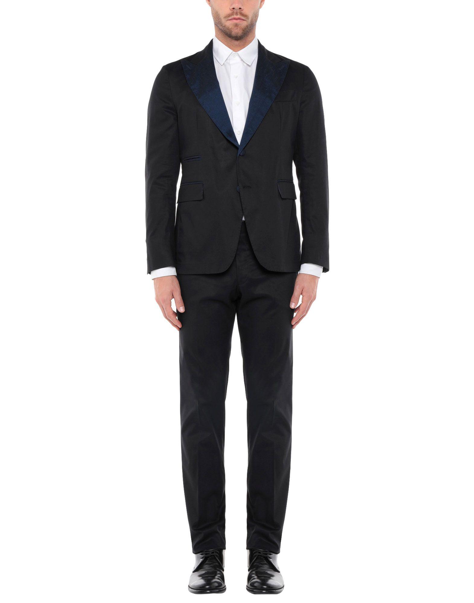 《期間限定セール開催中!》JOHN SHEEP メンズ スーツ ダークブルー 50 コットン 98% / ポリウレタン 2%