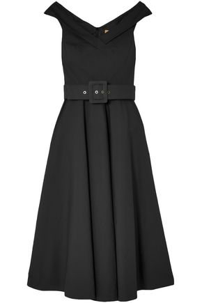 MICHAEL KORS COLLECTION Belted stretch-cotton midi dress