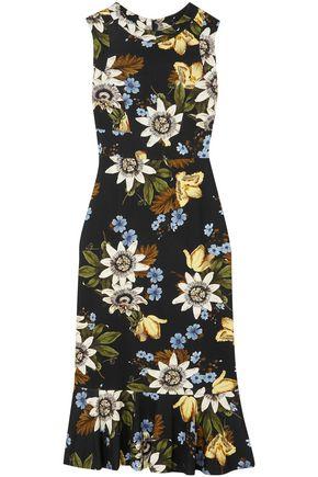 ERDEM Grazia floral-print ponte dress