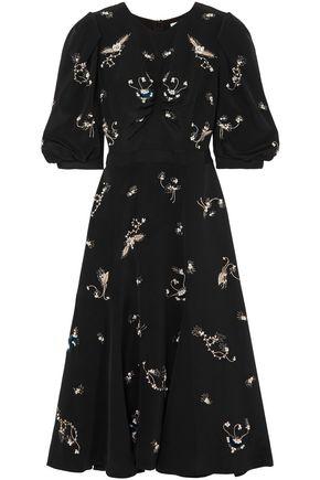ERDEM Esmerelda embellished silk duchesse-satin dress