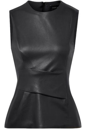 NARCISO RODRIGUEZ Gathered leather top