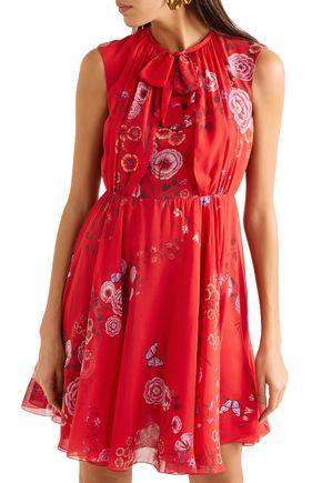 GIAMBATTISTA VALLI Floral-print silk-georgette mini dress