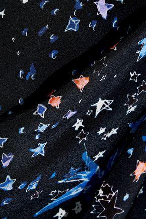 ZUHAIR MURAD Cutout embellished printed silk crepe de chine dress