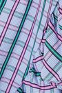 PETERSYN Gretchen ruffle-trimmed checked cotton-poplin shirt