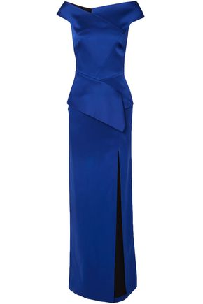 ROLAND MOURET Cawthorne off-the-shoulder satin gown
