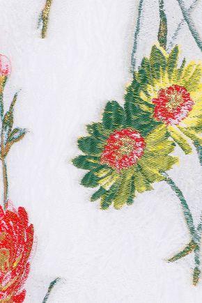 PRABAL GURUNG Matelassé floral-jacquard dress