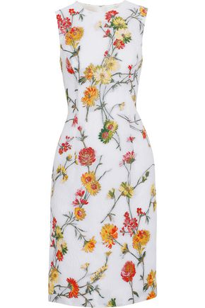PRABAL GURUNG Matelassé floral-jacquard dress