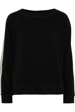 MONROW Striped French terry sweatshirt
