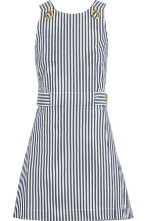 DEREK LAM 10 CROSBY Striped denim mini dress