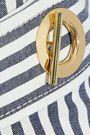 DEREK LAM 10 CROSBY Striped denim mini dress