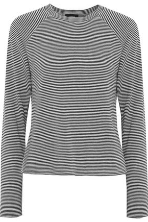 MONROW Striped knitted top
