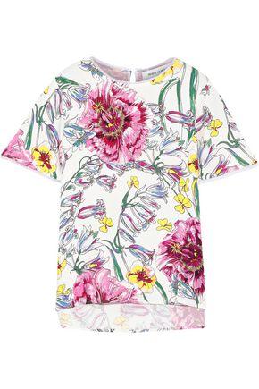 PRABAL GURUNG Floral-print silk crepe de chine top