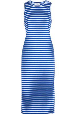 DEREK LAM Striped cotton-jersey midi dress