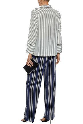 DEREK LAM 10 CROSBY Striped stretch-silk shirt