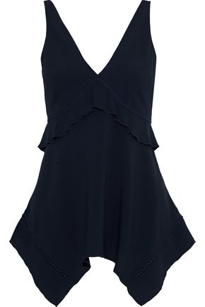 DEREK LAM 10 CROSBY Ruffled crepe top