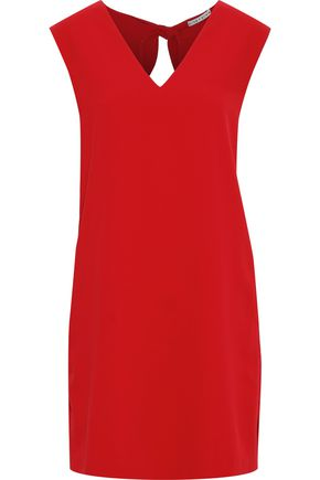 ALICE + OLIVIA Carita tie-back crepe mini dress