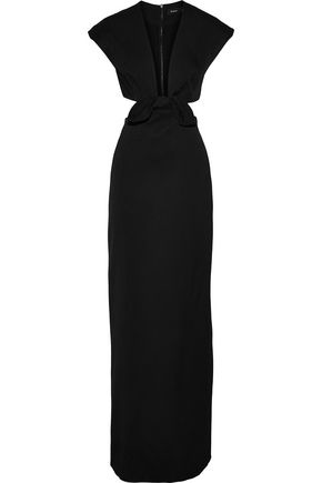 PROENZA SCHOULER Cutout knotted woven gown