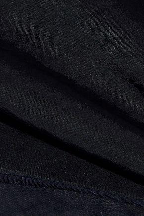 PAPER London Stina knotted draped textured-satin jumpsuit