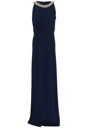 MICHAEL KORS Embellished stretch-crepe gown