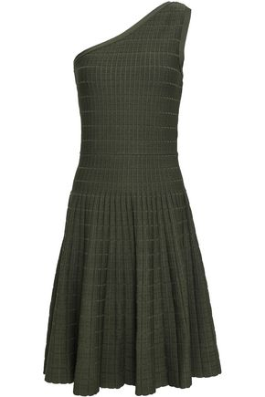 MICHAEL MICHAEL KORS One-shoulder jacquard-knit dress