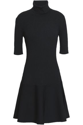 Ribbed Knit Turtleneck Mini Dress by Michael Michael Kors