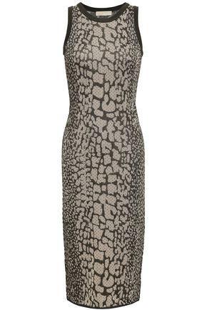 MICHAEL MICHAEL KORS Metallic animal-print jacquard-knit dress