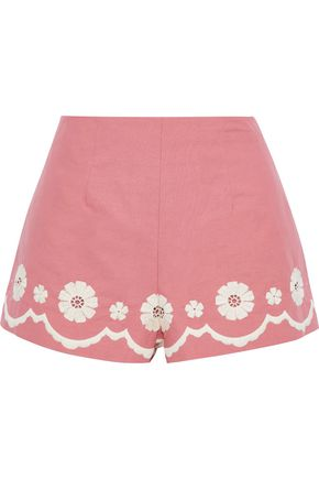 REDValentino Broderie anglaise cotton shorts