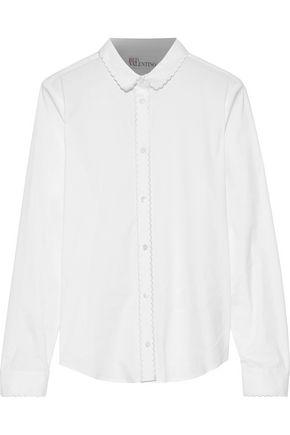 REDValentino Scalloped cotton-blend poplin shirt