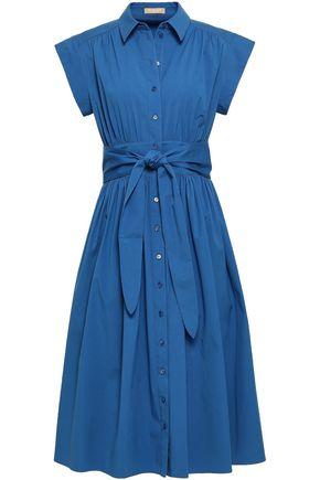 MICHAEL KORS COLLECTION Cotton-blend midi shirt dress