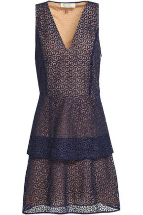 35400738419779 Tiered embroidered tulle mini dress | MICHAEL MICHAEL KORS | Sale up ...