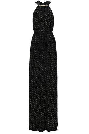 MICHAEL MICHAEL KORS Embellished crepe halterneck maxi dress