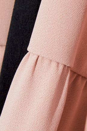 RED(V) Silk-trimmed crepe mini dress