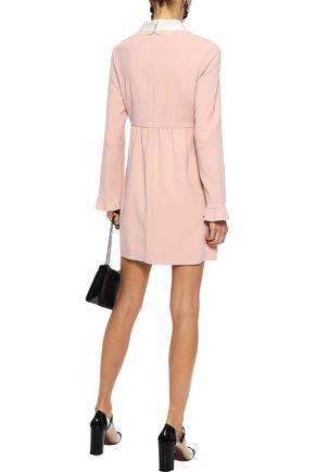 REDValentino Silk-trimmed crepe mini dress