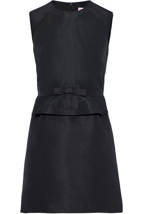 REDValentino Bow-embellished faille peplum mini dress