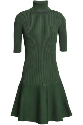 MICHAEL MICHAEL KORS Ribbed stretch-ponte mini turtleneck dress