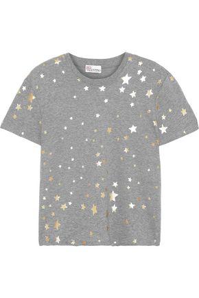 REDValentino Metallic printed cotton-jersey T-shirt