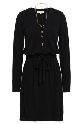 MICHAEL KORS Chain-embellished stretch-jersey mini dress