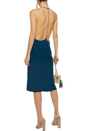 MIKOH Silk-chiffon slip dress