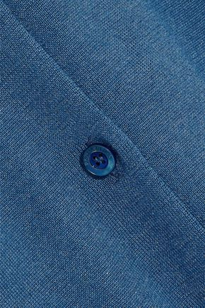 RED(V) Point d'esprit-trimmed cashmere and silk-blend cardigan