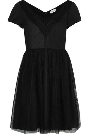 REDValentino Flared point d'esprit mini dress