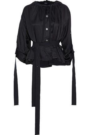 ANN DEMEULEMEESTER Nanette belted satin blouse