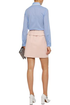 REDValentino Lace-trimmed cotton-poplin shirt