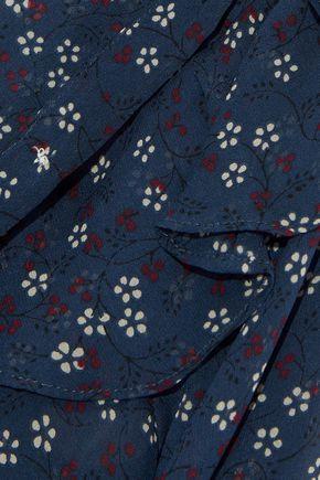 a0b26cd1359c64 ... VERONICA BEARD Finley tie-neck ruffled floral-print silk-chiffon blouse  ...