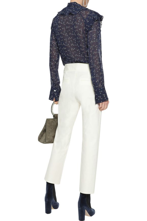 cd927068c05c35 Finley tie-neck ruffled floral-print silk-chiffon blouse | VERONICA BEARD |  Sale up to 70% off | THE OUTNET