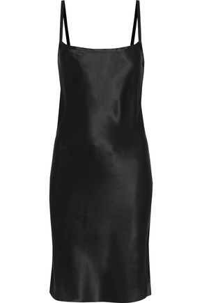 Silk Charmeuse Mini Slip Dress by Ann Demeulemeester