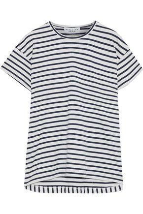 DEREK LAM 10 CROSBY Striped cotton-jersey T-shirt