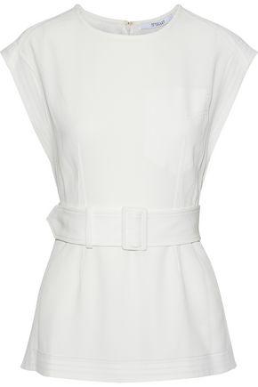 DEREK LAM 10 CROSBY Belted crepe tunic