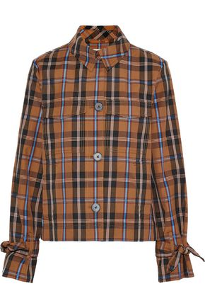 DEREK LAM 10 CROSBY Cropped checked twill jacket