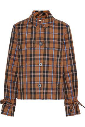 DEREK LAM 10 CROSBY Cropped checked twill jacket